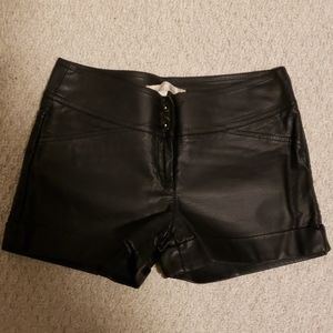 DYNAMITE faux leather shorts
